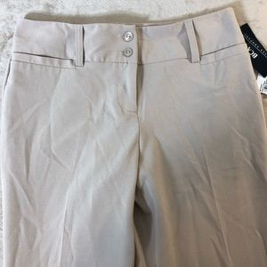 BCX Stretch wide leg khaki dress pants
